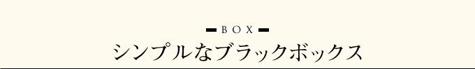 シンプルなブラックボックス