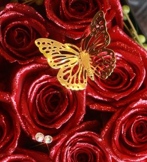 スワロフスキーと蝶のオーナメント