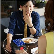 BOXアレンジメント[青い煌薔薇]