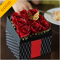 BOXアレンジメント[煌薔薇]Red
