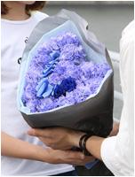 カーネーションとバラのハート型花束~ブルーVer. 7000円(税込) [レビュー割引後]