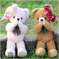 【造花】ベアレット ぬいぐるみとリストレットのSet